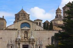 Abadía real de Santa María de Poblet Foto de archivo