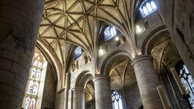 Abadía Reino Unido Europa de Tewkesbury de los arcos Fotos de archivo