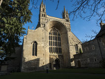 Abadía Reino Unido Europa de Tewkesbury de los arcos Foto de archivo