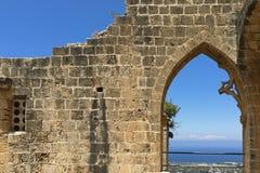 Abadía septentrional de Chipre Bellapais Fotografía de archivo
