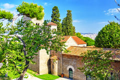Abadía vieja en Barcelona Imagen de archivo libre de regalías