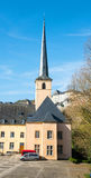 Abadía y Johanneskirche del nster del ¼ de Neumà Imagen de archivo