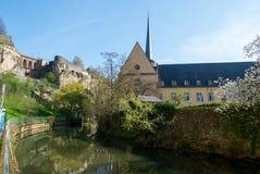 Abadía y Johanneskirche del nster del ¼ de Neumà Imagenes de archivo