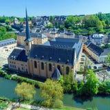 Abadía y St. Ioann Chirch, Luxemburgo Foto de archivo libre de regalías