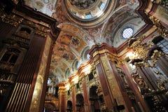 Abadía de Melk - la iglesia - Austria Fotos de archivo