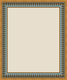 Abadan Arabic Frame Five. Traditional Arabic Design Colorful Rectangular Frame Royalty Free Illustration