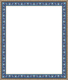 Abadan Arabic Frame One. Traditional Arabic Design Colorful Rectangular Frame stock illustration
