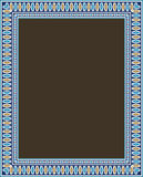 Abadan Morocco Frame One. Traditional Arabic Design Colorful Rectangular Frame vector illustration