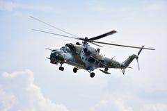 Abadejo Pardubice, helicóptero MI 24V de Aviaticka Imágenes de archivo libres de regalías