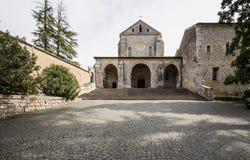 Abadia de Casamari em Ciociaria, Frosinone, Itália Fotos de Stock