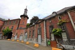 A abadia de FlÃ'ne, Flone, Bélgica imagens de stock