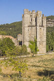 Abadia de Lagrasse, França Foto de Stock Royalty Free