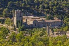 Abadia de Lagrasse, França Fotos de Stock Royalty Free