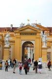 Entrada principal da abadia de Melk na Baixa Áustria Fotos de Stock