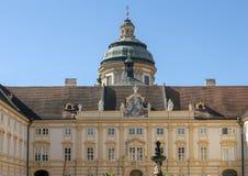 Abadia de Melk, acima da cidade de Melk, Baixa Áustria imagem de stock royalty free