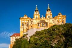 Abadia de Melk em Áustria fotos de stock royalty free