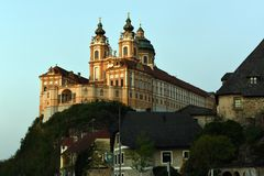Abadia de Melk, Wachau, ?ustria imagens de stock