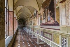 Abadia de Monte Oliveto Maggiore, Toscânia, Itália Fotos de Stock