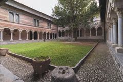 Abadia de Piona Fotos de Stock Royalty Free