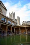 A abadia de Roman Bath e do banho Fotografia de Stock