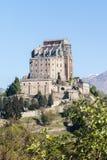 Abadia de Sacro di San Michele em Itália ocidental do norte Foto de Stock