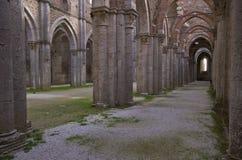 Abadia de San Galgano fotos de stock royalty free