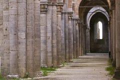 Abadia de San Galgano, detalhe fotografia de stock royalty free