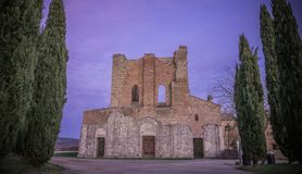Abadia de San Galgano, Toscânia Foto de Stock Royalty Free