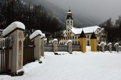 Abadia de Stams, der Täufer de Heiliger Johannes, Tirol, Áustria fotos de stock royalty free