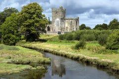 A abadia de Tintern era uma abadia Cistercian situada na península do gancho, condado Wexford, Irlanda imagem de stock