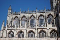 Abadia do banho um marco famoso na cidade do banho em Somerset England Imagem de Stock Royalty Free