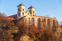 Abadia do licor beneditino em Tyniec, Krakow, Polônia imagem de stock royalty free