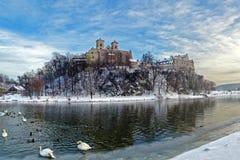 Abadia do licor beneditino em Tyniec perto de Cracow, Imagens de Stock