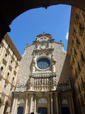 Abadia do licor beneditino, Santa Maria de Montserrat, região de Barcelona, ESPANHA Imagens de Stock