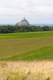A abadia do Saint-Michel da montagem fotos de stock royalty free