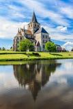Abadia do vigor do St no Cerisy-la Forêt, França Fotos de Stock Royalty Free