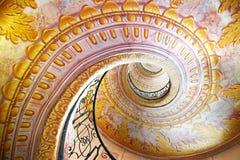 Abadia imperial de Melk das escadas, Áustria fotos de stock