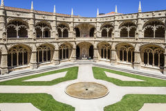 Abadia Lisboa do monastério de Jeronimos do claustro Imagens de Stock