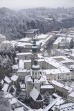 A abadia no inverno, Salzburg de St Peter, Áustria fotos de stock royalty free
