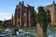 Abadia Scotland da melrose imagem de stock royalty free