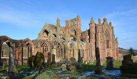 Abadia Scotland da melrose fotografia de stock royalty free