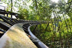 Abandoned Roller Coaster in Theme Park, Berlin Stock Photography