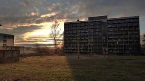 Abadoned αποκαλούμενο κτήριο Merkur Στοκ Φωτογραφίες