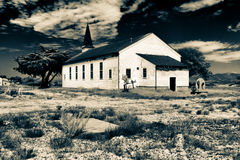 Abadoned Garrison Chapel est au fort Ord Photographie stock libre de droits