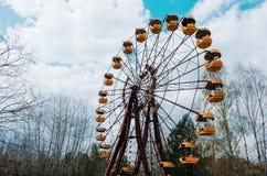 AbadonrdRiesenrad herein Pripyat-Geisterstadt in Tschornobyl-exclusi Lizenzfreie Stockfotografie