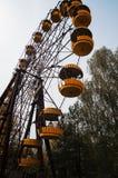 AbadonrdRiesenrad herein Pripyat-Geisterstadt in Tschornobyl-exclusi Lizenzfreies Stockbild