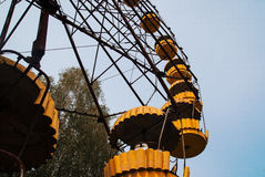 AbadonrdRiesenrad herein Pripyat-Geisterstadt in Tschornobyl-exclusi Stockfoto