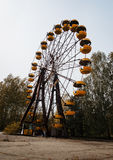 AbadonrdRiesenrad herein Pripyat-Geisterstadt in Tschornobyl-exclusi Stockfotos