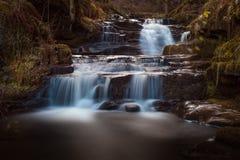 Abaissez Blaen y Glyn Falls Photographie stock libre de droits