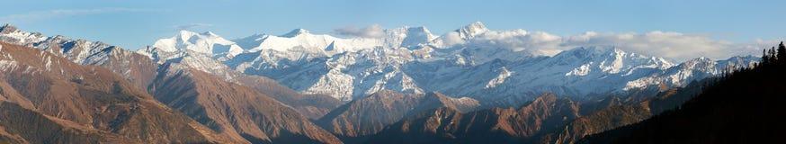 Abaissez Dolpo et Dhaulagiri himal Photo libre de droits